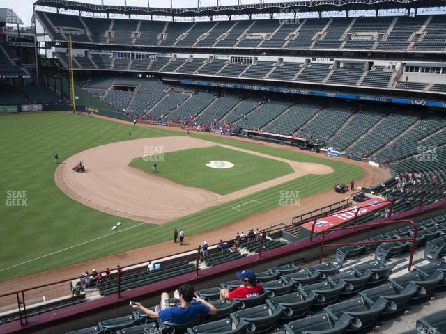 Globe Life Park Section 215 view