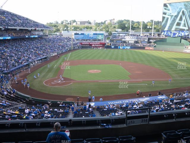 Kauffman Stadium Section 313 view