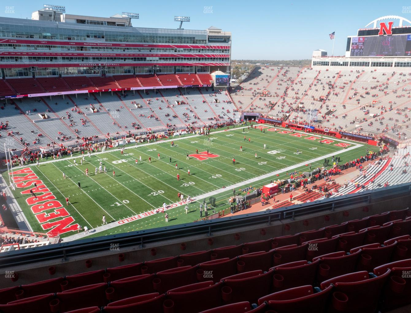 Nebraska Cornhuskers Football at Memorial Stadium Nebraska Section 412 View