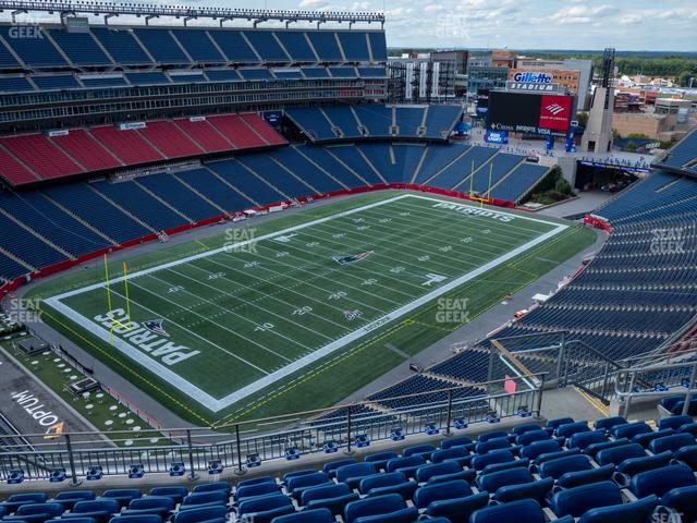 Gillette Stadium Section 317 view