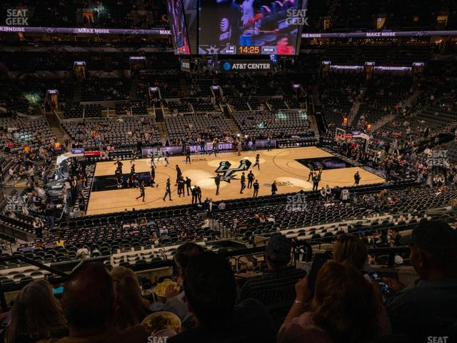 AT&T Center Section 122 view