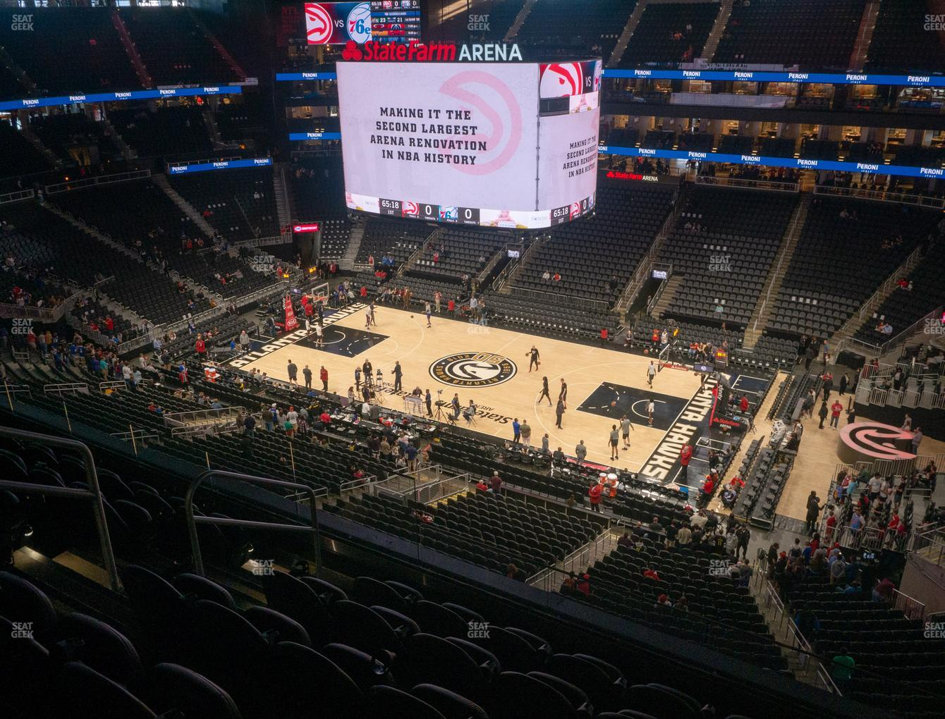 Atlanta Hawks at State Farm Arena Section 220 View