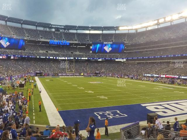 MetLife Stadium Section 129 view