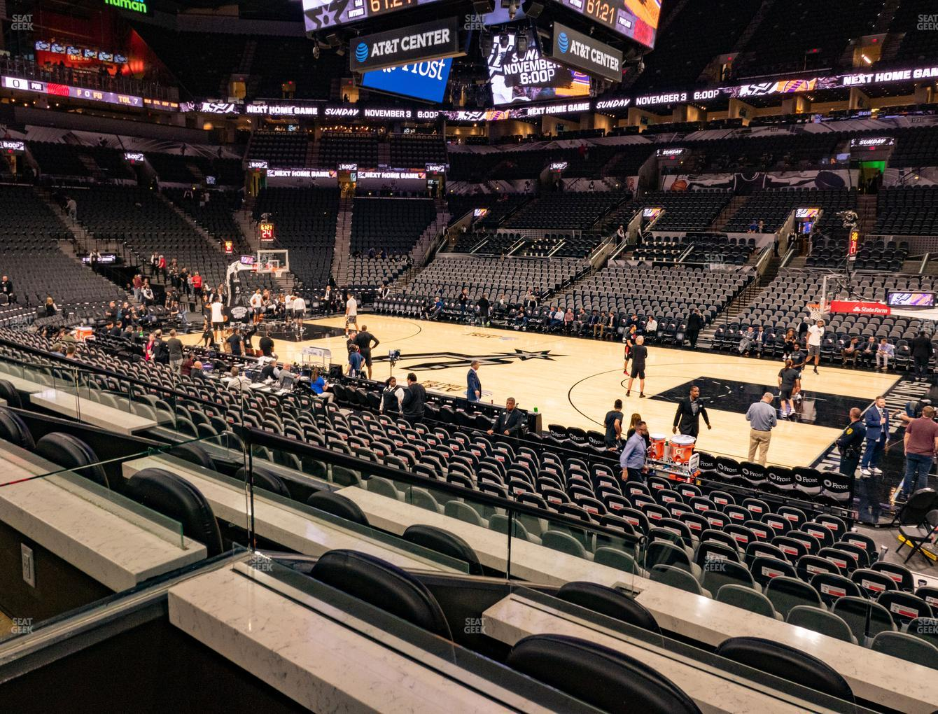 San Antonio Spurs at AT&T Center Box 6 A View