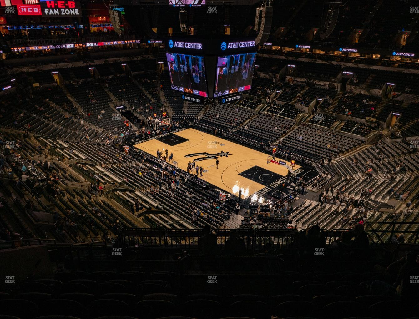 San Antonio Spurs at AT&T Center Section 204 View