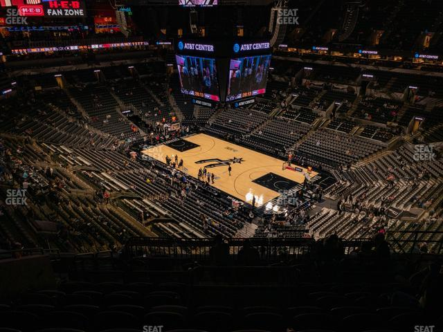 AT&T Center Section 204 view