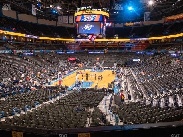 Chesapeake Energy Arena Lower Terrace 214 view