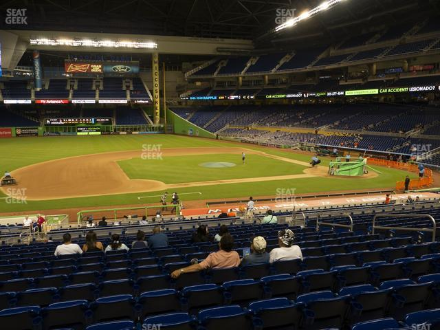 Marlins Park Section 21 view