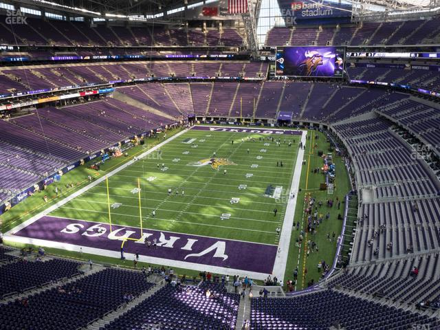 U.S. Bank Stadium Section 352 view