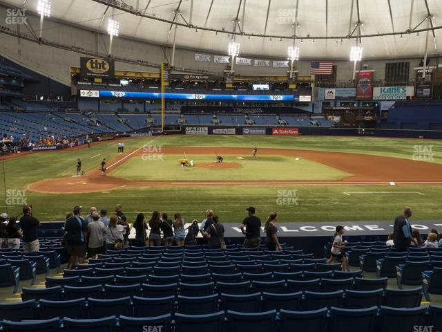 Tropicana Field Section 112 view