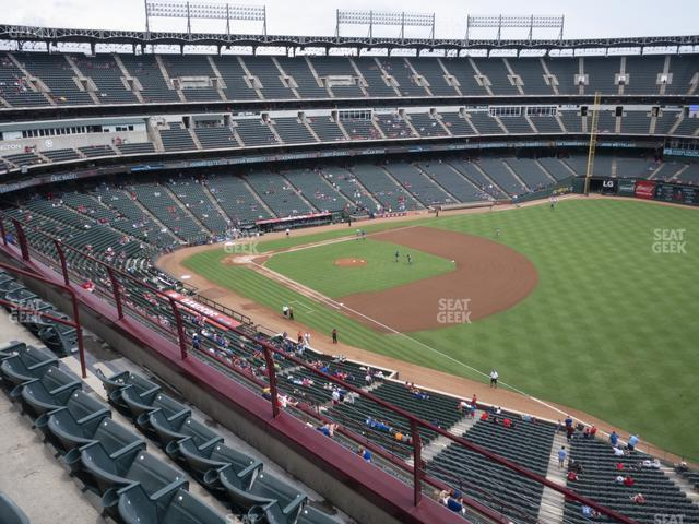 Globe Life Park Section 339 view
