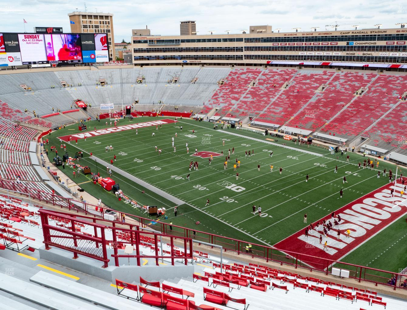 Wisconsin Badgers Football at Camp Randall Stadium Section AA View