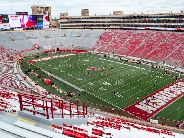 Camp Randall Stadium Section AA view