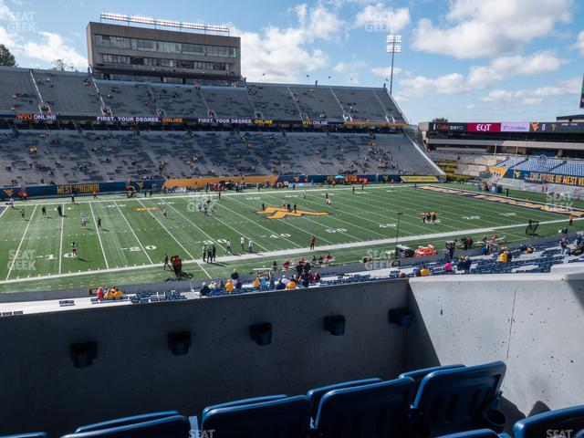 Mountaineer Field at Milan Puskar Stadium Field Box 11 view