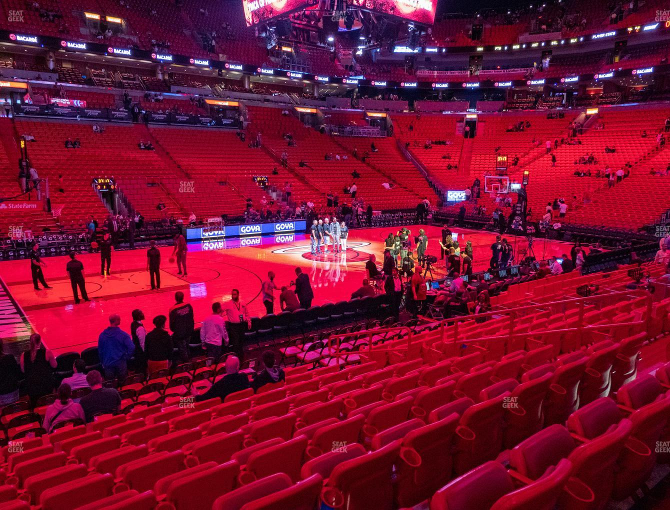 american airlines arena section 120 seat views | seatgeek