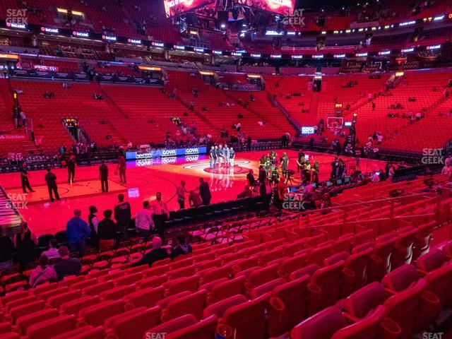 American Airlines Arena Section 120 view