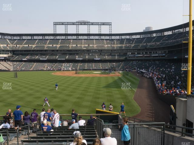 Coors Field Section 151 view