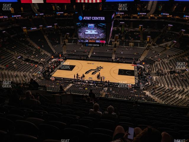 AT&T Center Section 207 view