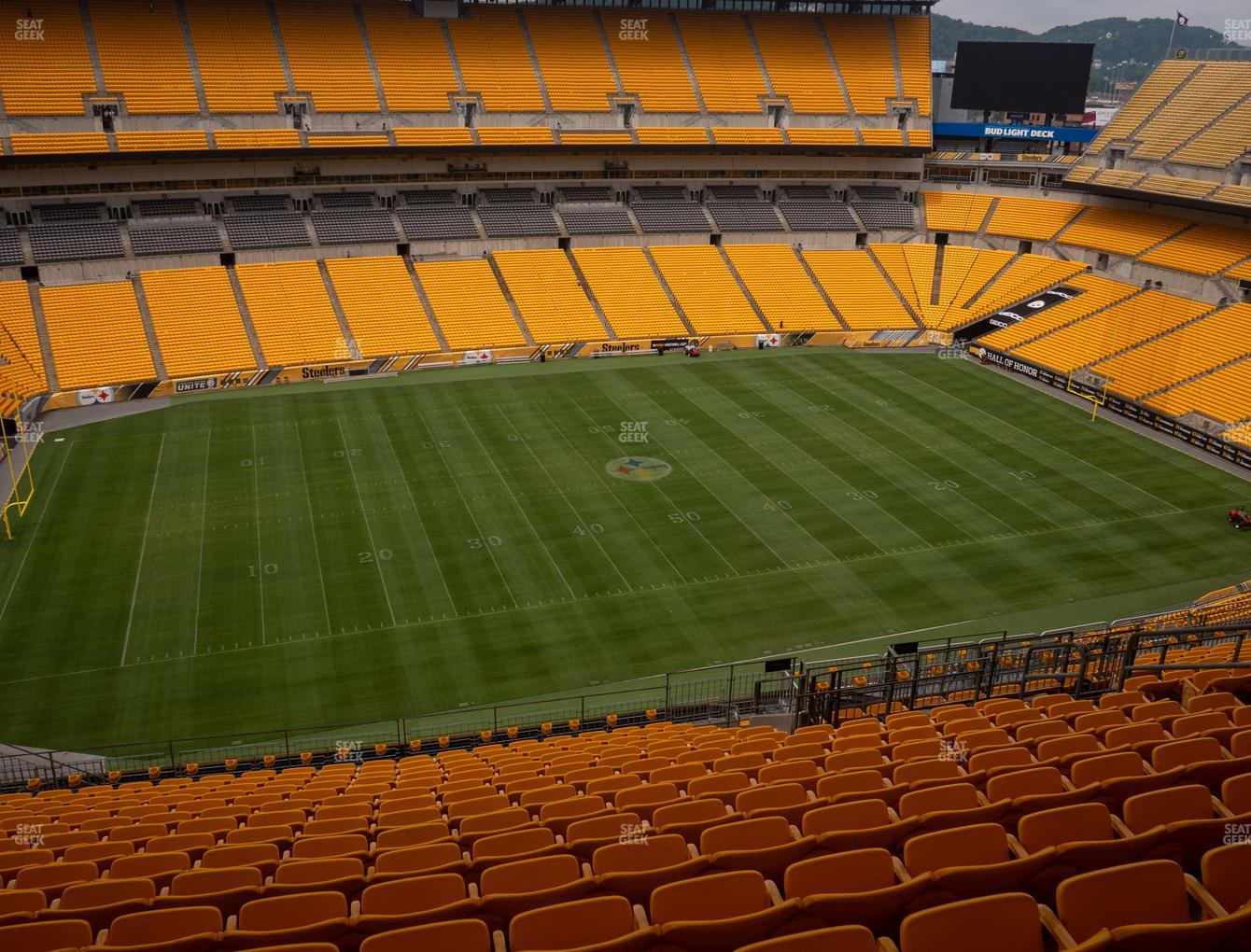 Pittsburgh Steelers at Heinz Field Section 508 View
