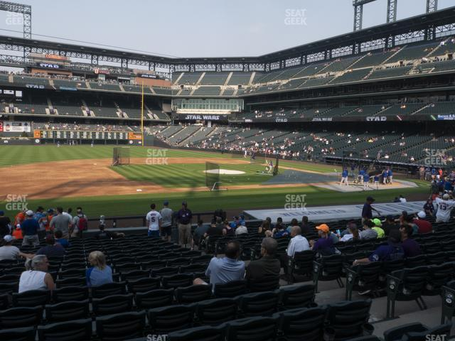 Coors Field Section 140 view