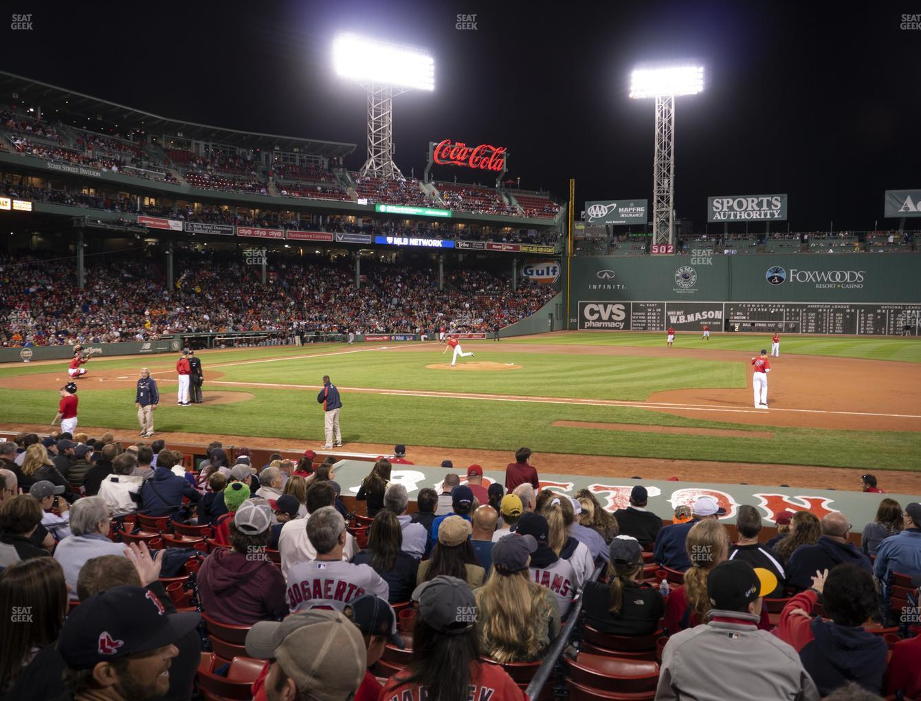 Boston Red Sox at Fenway Park Loge Box 113 View