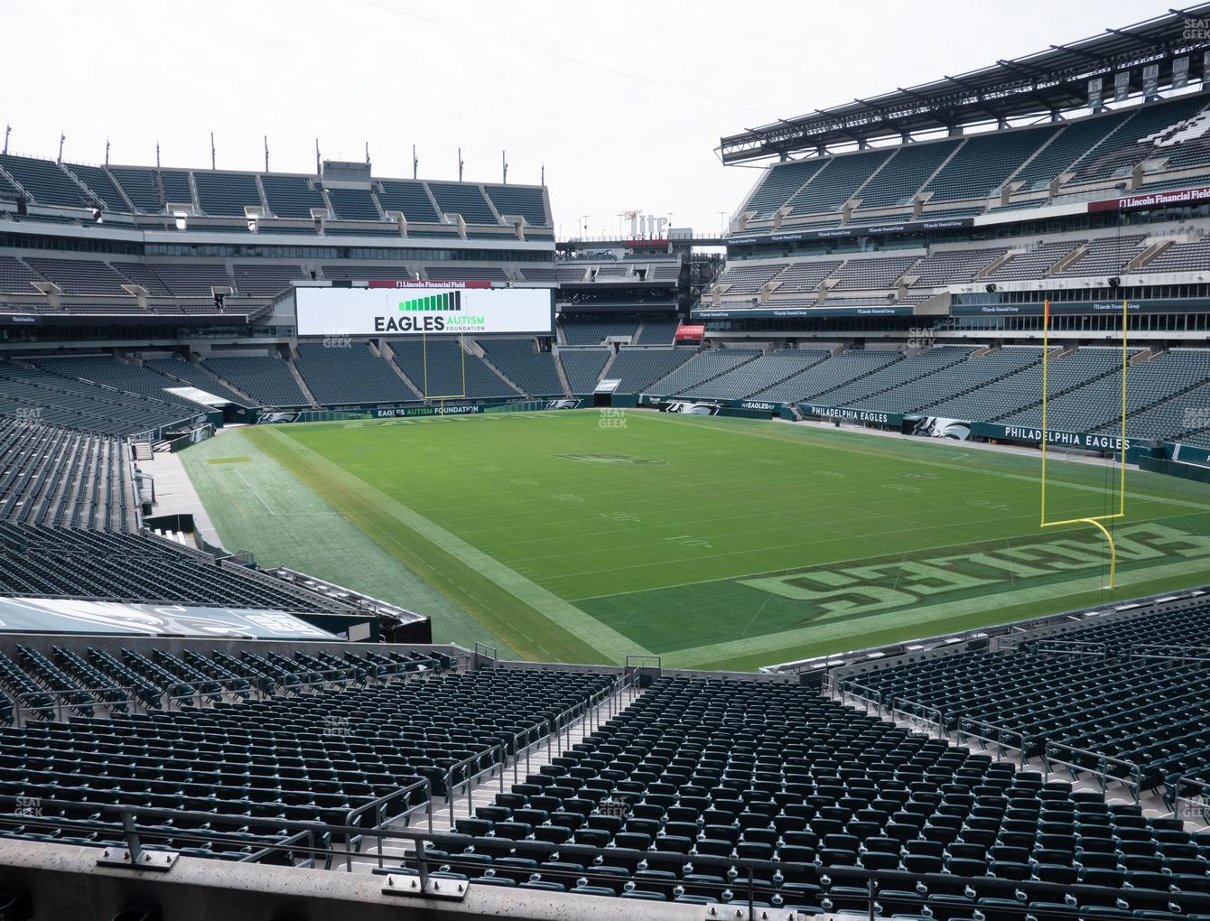 Philadelphia Eagles at Lincoln Financial Field Northeast Terrace 1 View
