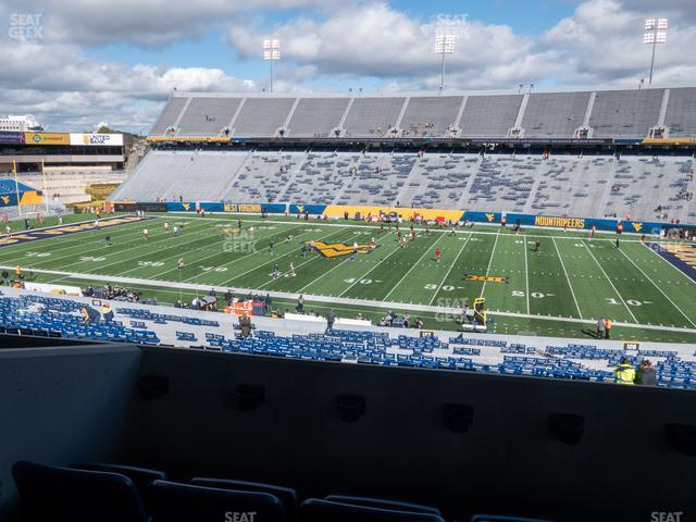 Mountaineer Field at Milan Puskar Stadium Field Box 64 view