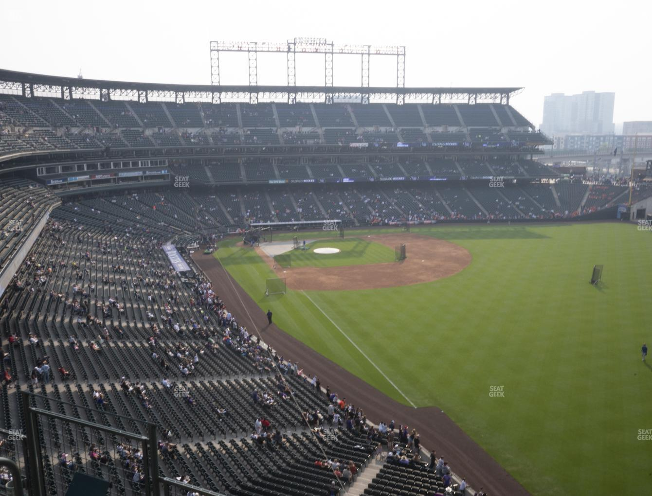 Colorado Rockies at Coors Field Lower 311 View