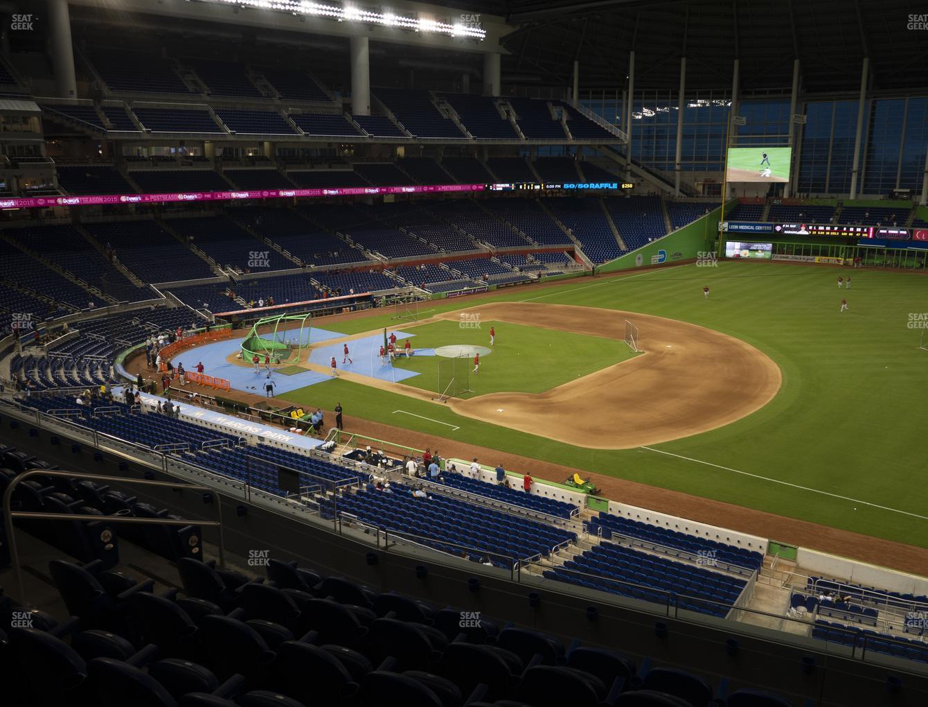 Miami Marlins at Marlins Park Section 206 View