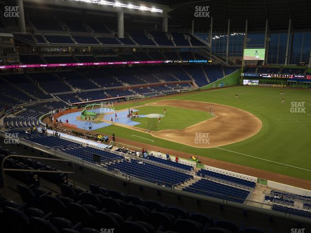 Marlins Park Section 206 view