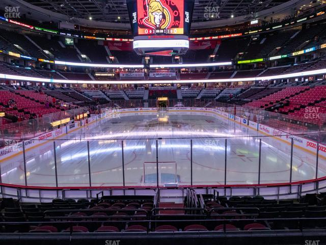 Canadian Tire Centre Section 101 view