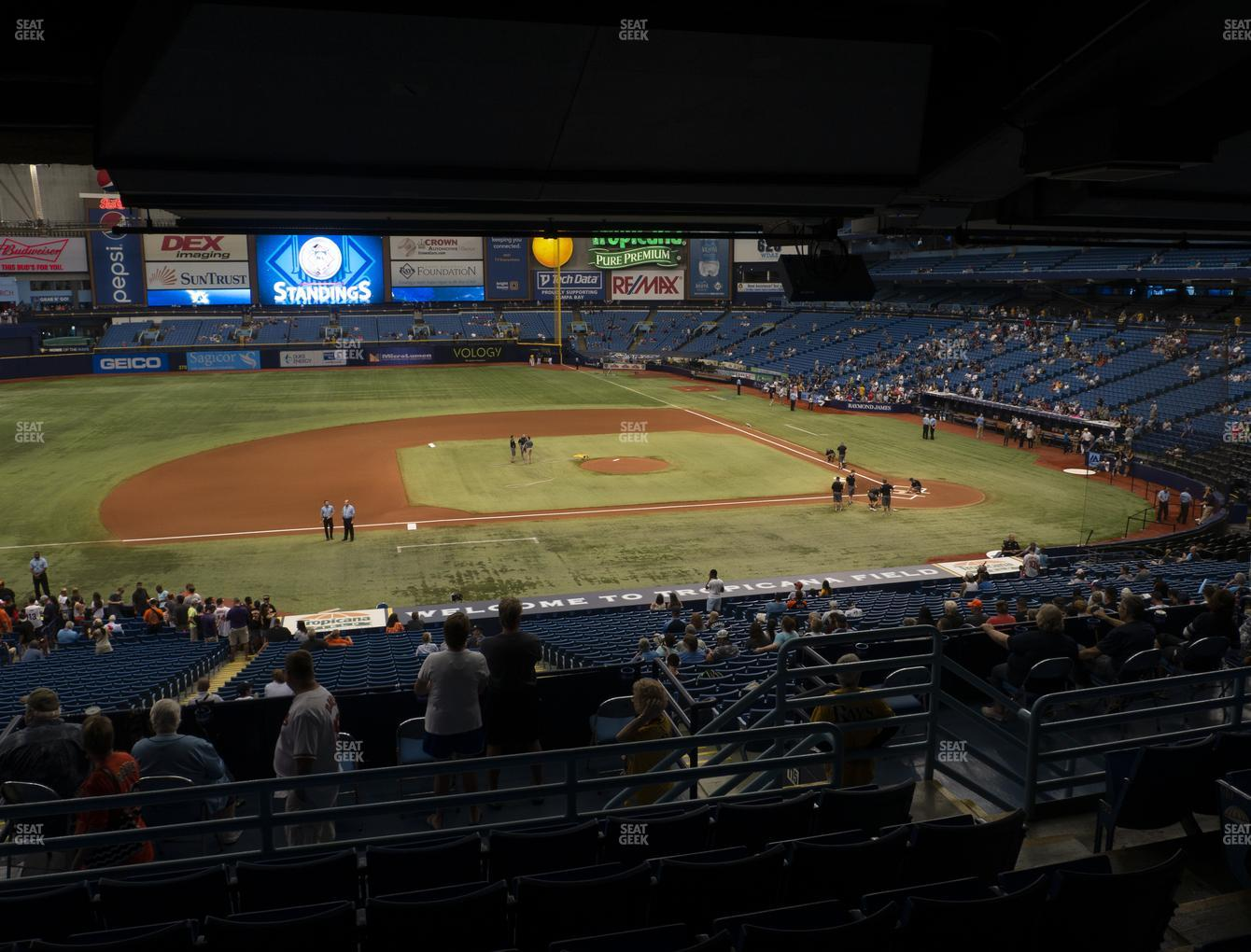 Tampa Bay Rays at Tropicana Field Section 117 View
