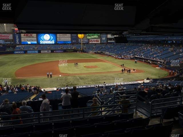 Tropicana Field Section 117 view