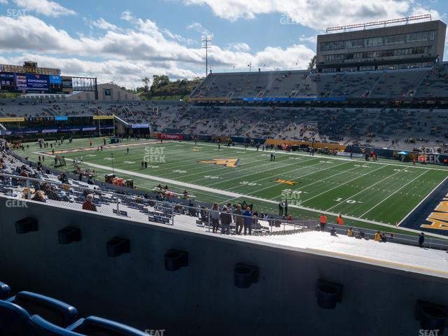 Mountaineer Field at Milan Puskar Stadium Field Box 29 view