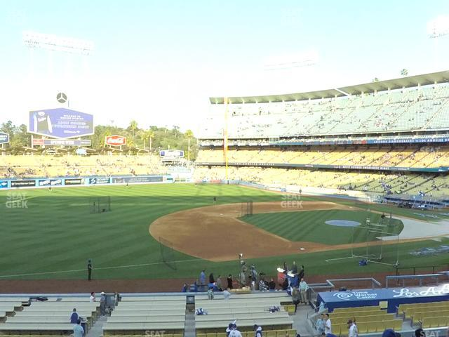 Dodger Stadium Loge Box 141 view