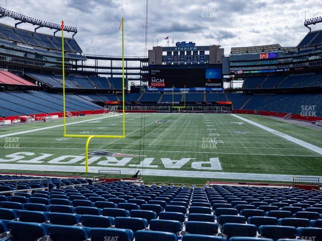 Gillette Stadium Section 142 view