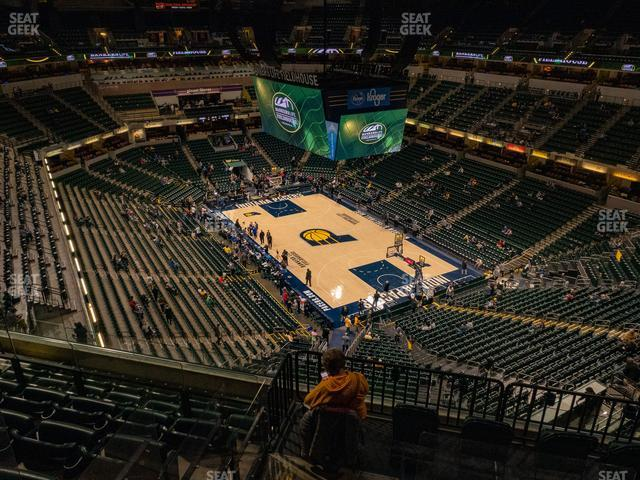 Bankers Life Fieldhouse Section 204 view