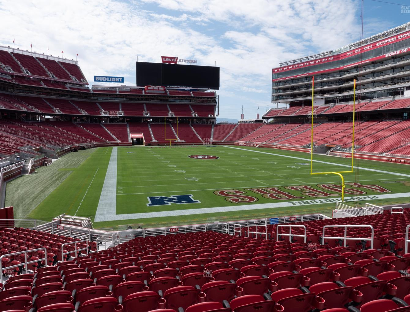San Francisco 49ers at Levi's Stadium Section 105 View
