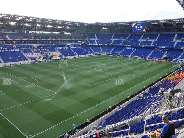 Red Bull Arena Section 230 view