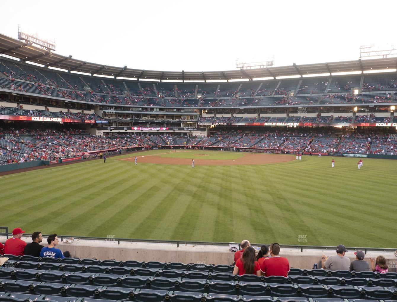 Los Angeles Angels at Angel Stadium of Anaheim Section 238 View