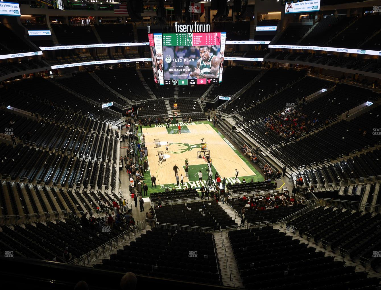 Milwaukee Bucks at Fiserv Forum Section 216 View