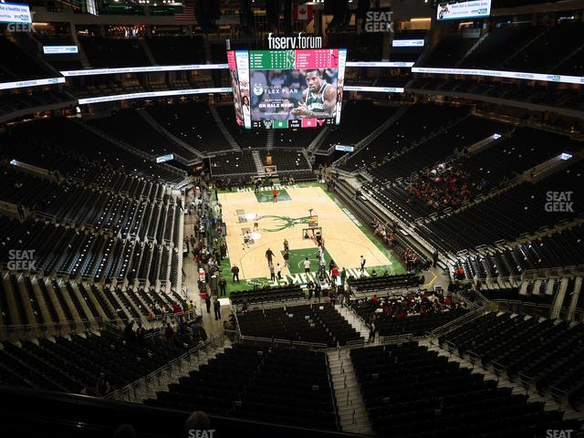 Fiserv Forum Section 216 view