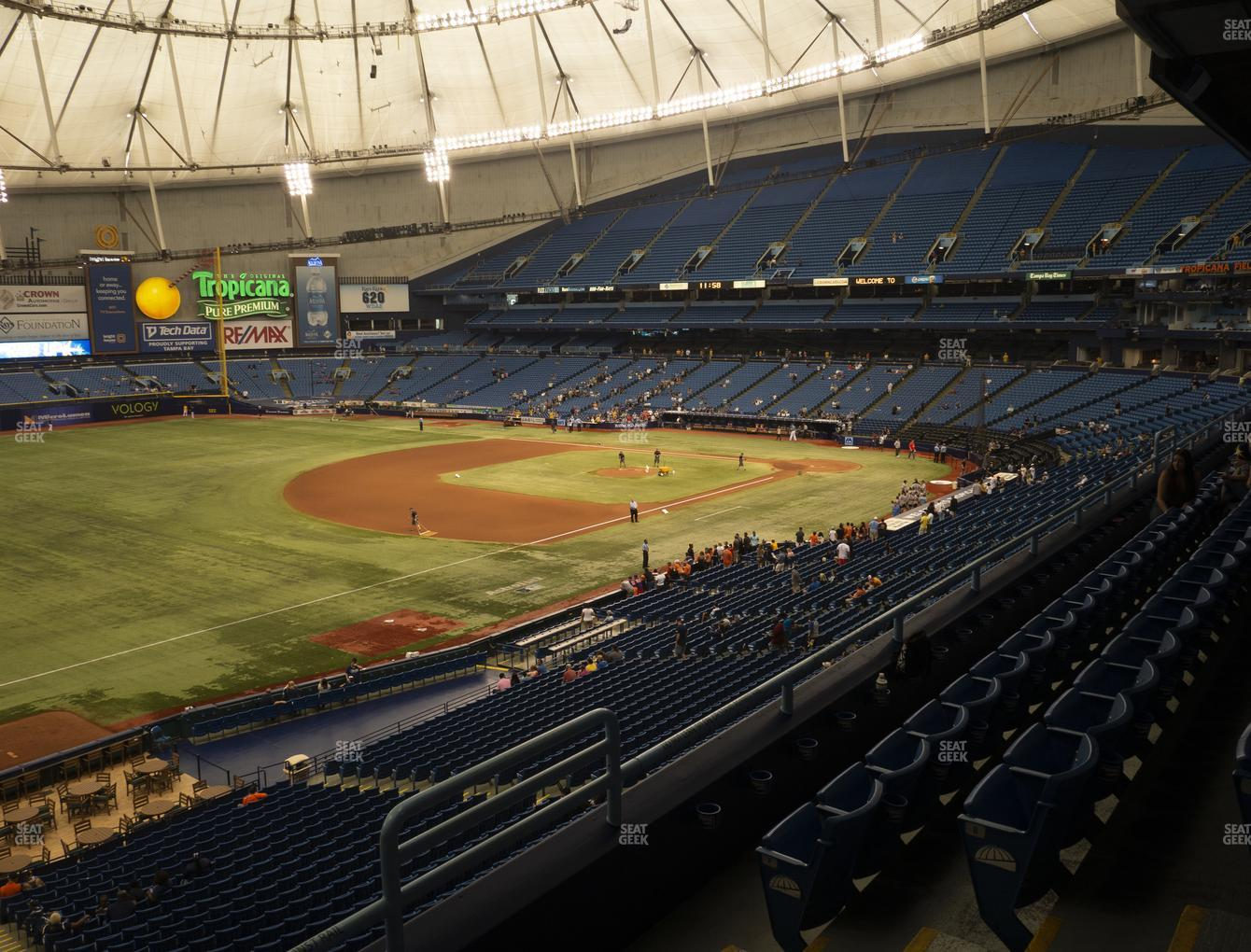 Tampa Bay Rays at Tropicana Field Section 221 View