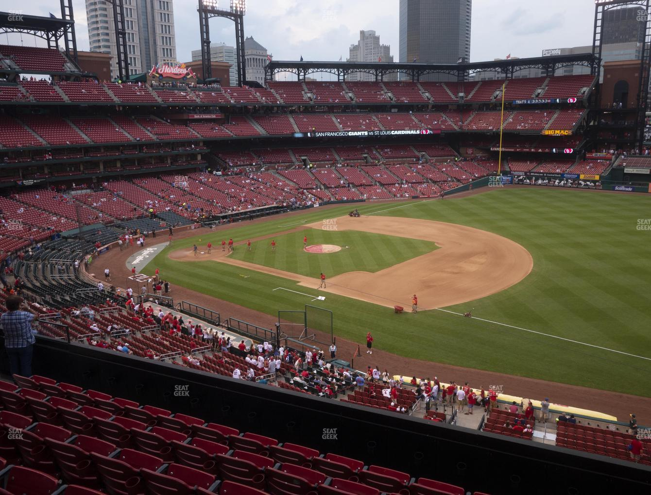 St. Louis Cardinals at Busch Stadium First Base Loge 239 View