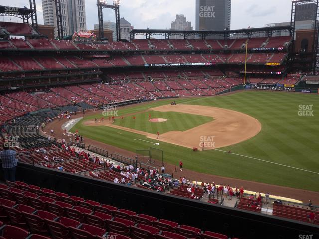 Busch Stadium First Base Loge 239 view