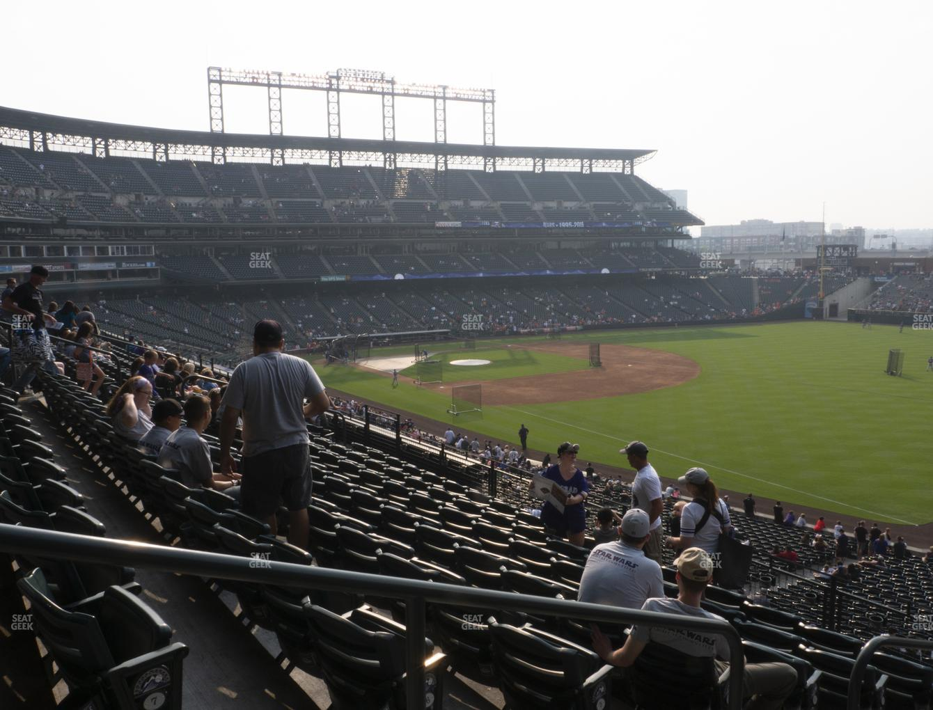 Colorado Rockies at Coors Field Section 214 View