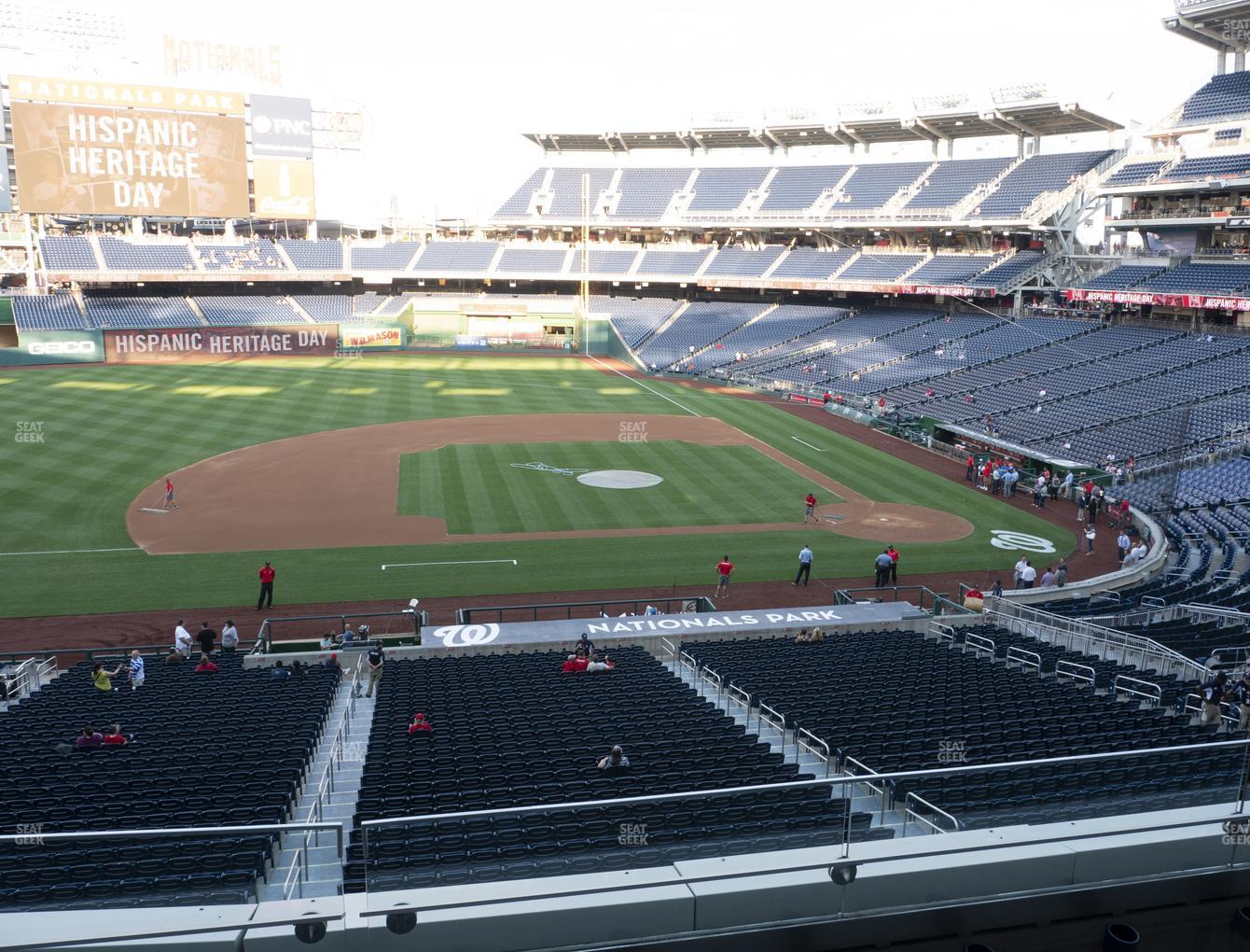 Washington Nationals at Nationals Park Section 208 View