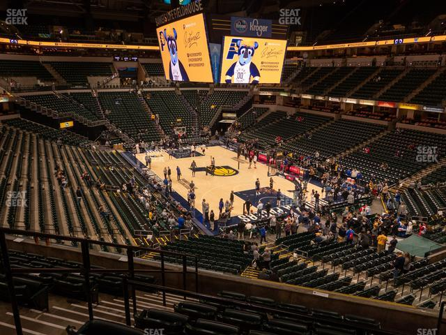 Bankers Life Fieldhouse Section 112 view