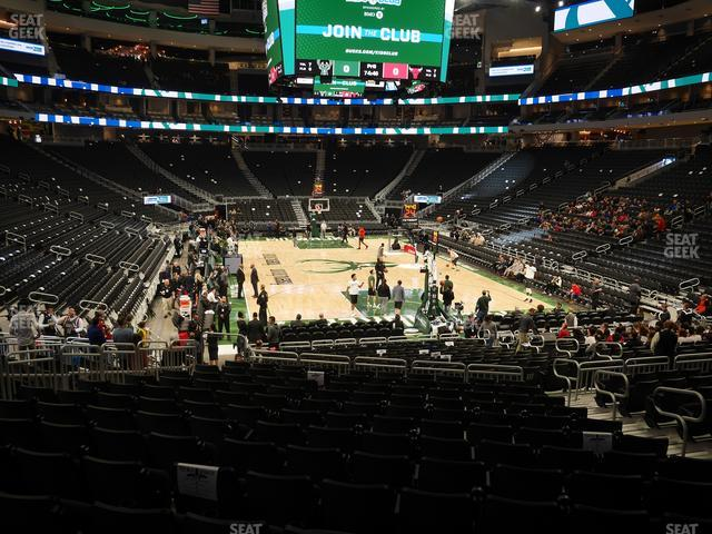 Fiserv Forum Section 113 view