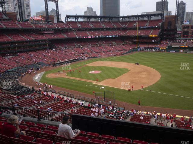 Busch Stadium Infield Redbird Club 241 view